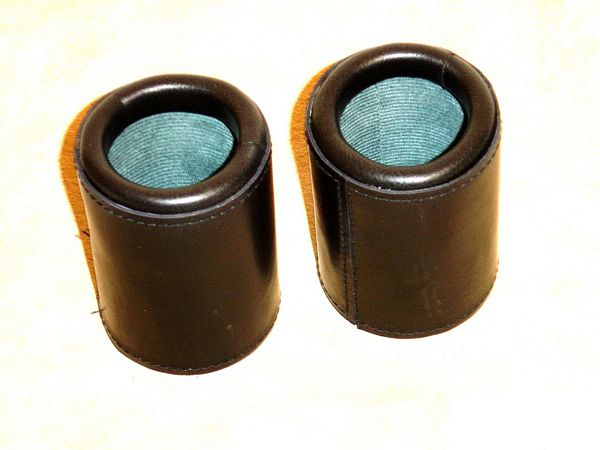 Leather Dice Cups, Round Classic