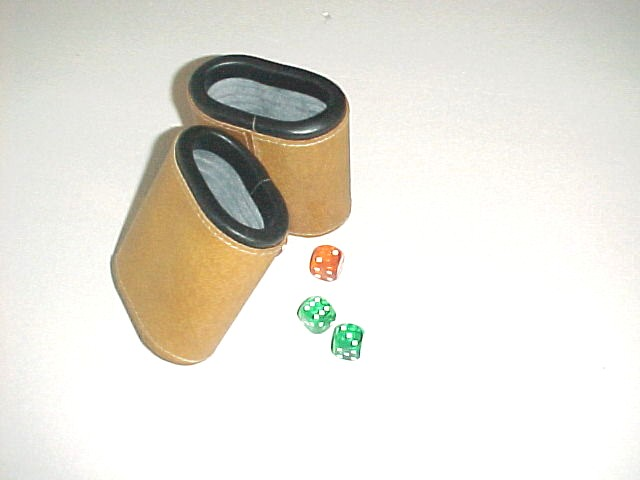 Dice Cups Oval Beige