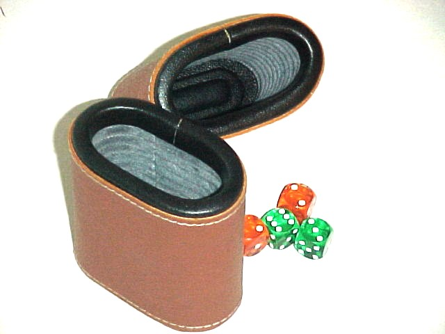 Dice Cups Oval Brown